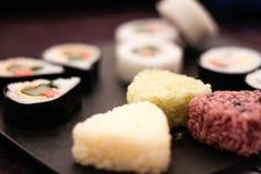 Sushi y arroz Foto de archivo libre de regalías