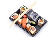 Sushi y rodillos Foto de archivo