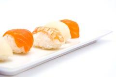 Sushi y wasabi Fotografía de archivo libre de regalías