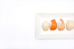 Sushi y wasabi Imágenes de archivo libres de regalías