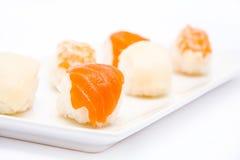 Sushi y wasabi Fotografía de archivo
