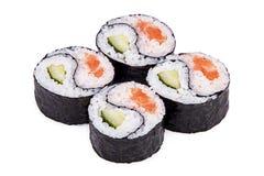 Sushi Yin-Yang. Isolated on a white background Stock Photo
