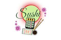 Sushi Yum Yum Illustration. A Bento Box of sushi with all the favourites Stock Images