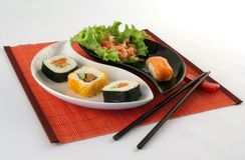 Sushi-Zeit Lizenzfreies Stockbild