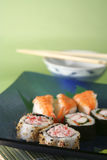 Sushi4one. Sushi selection on blue plate stock photos