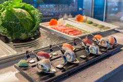 At the Sushibar Stock Photography