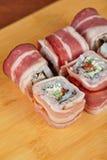 Sushibroodje met bacon Stock Afbeeldingen