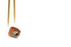 Sushibroodjes op Witte Achtergrond Stock Afbeeldingen
