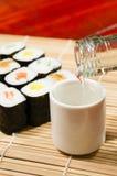 Sushi och wine Royaltyfria Bilder