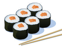 Sushiillustration Stock Illustrationer