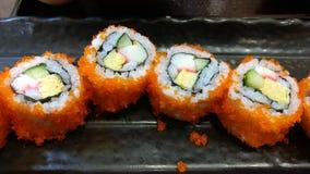 Sushijapanmeny Arkivbild