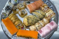 Sushiküche der traditionellen japanischen Küche Stockfotografie