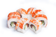 Sushimaki met verse zalm Stock Fotografie