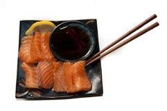 Sushimi di color salmone Immagine Stock Libera da Diritti