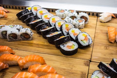 Sushirestaurang royaltyfri bild