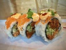 Sushirolle für das Mittagessen Portland ODER USA Stockfotografie
