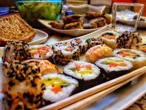 Sushivariation royaltyfri bild