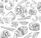 Sushivektormodell stock illustrationer