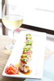sushiwine Arkivbild