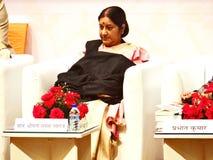 Sushma Swaraj indisk utrikesminister arkivfoton