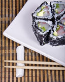 Sushy. Dish from the Japanese kitchen, rice, caviar Royalty Free Stock Images