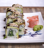 Sushy. Dish of the Japanese kitchen Stock Photography