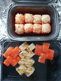 Susi食物健身轻量级选手 图库摄影