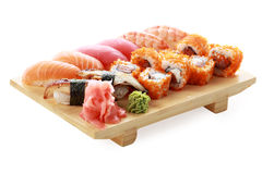 Susi bar. Japanese cuisine: seafoods and other royalty free stock photos