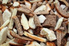 Susi chlebów plasterki jako tło Obraz Royalty Free