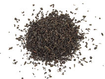 Susi czarni herbaciani liście odizolowywający na bielu obraz royalty free