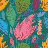 Susi liście projektują bezszwowego wzór ilustracji