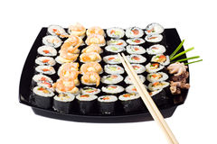 Susi rolled plate. Susi rolled cymbals plate isolated royalty free stock photo