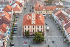 Susice city - aerial photo Royalty Free Stock Images