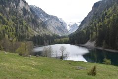 The Susicko lake and the Susica valley. The Durmitor National Park,Montenegro stock photo