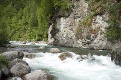 Susitna-Fluss Alaska Lizenzfreie Stockfotos