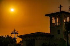 Sunset Pictures Of the South Bay California royalty free stock image