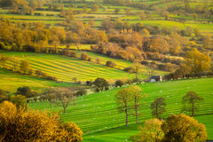 Susnet View of the Derbshire Dales Stock Photos