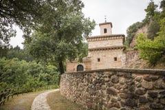 Suso Monastery em San Millan de la Cogolla, La Rioja, Espanha fotos de stock