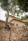 Suso Monastery in San Millan de la Cogolla, La Rioja, Spain. Suso Monastery in San Millan de la Cogolla, Province of La Rioja, Spain stock photo