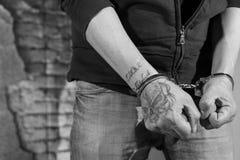 Suspect arrêté Photographie stock libre de droits