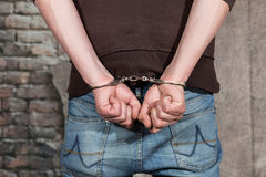 Suspect arrested Stock Image
