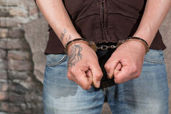 Suspect arrested Stock Photo