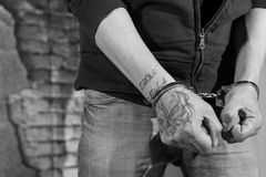 Suspect arrested royalty free stock photography
