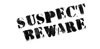 Suspect Beware rubber stamp Royalty Free Stock Photography