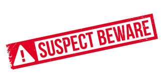 Suspect Beware rubber stamp Stock Photography