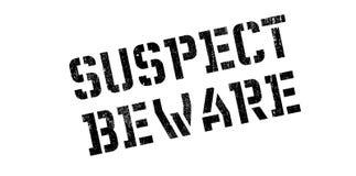 Suspect Beware rubber stamp Stock Photo