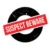 Suspect Beware rubber stamp Stock Images