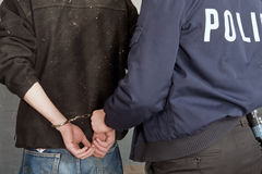 Suspect in custody Stock Photography