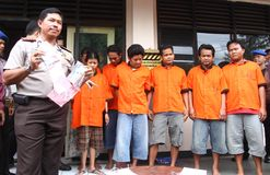 Suspect de trafiquant de drogues Images libres de droits