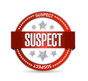 Suspect seal illustration design Stock Image